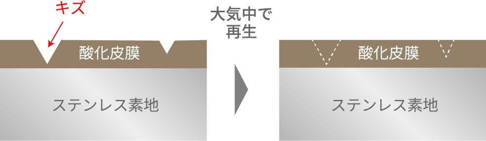 【酸化皮膜の修復イメージ】