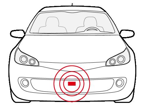 自動車センサー用機構部品(受信機、発信機)