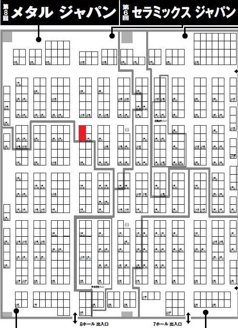 2021高機能金属展:ABELブース配置図